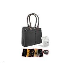 BOLSO CITY NEGRO+AUDIFONOS TWS Y MOUSE PAD PERFECT CHOICE