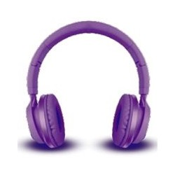AUDIFONOS ON-EAR CON MICROFONO MOBIFREE COLECCION METALICOS COLOR MORADO MM-300