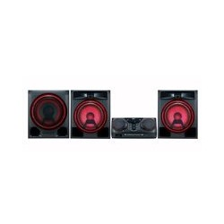 MINICOMPONENTE LG CK57 1100 W CD/MP3/MULTIBLUETOOTH(3), MULTIUSB(2), KARAOKE STAR, EFECTOS VOCALES, LUCES LED, NEGRO