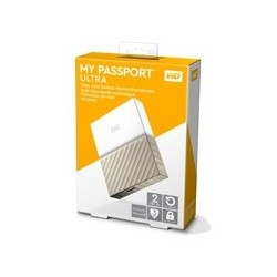 DD EXTERNO PORTATIL 2TB WD MY PASSPORT ULTRA BLANCO-DORADO/METALICO/2.5/USB3.0/COPIA LOCAL/ENCRIPTACION/WIN