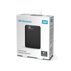 DD EXTERNO PORTATIL 1TB WD ELEMENTS NEGRO 2.5/USB3.0/WIN