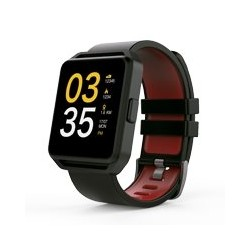 GHIA SMART WATCH/ PANTALLA 1.54 TOUCH / BT / IOS / ANDROID / NEGRO - ROJO
