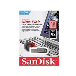 MEMORIA SANDISK 16GB USB 3.0 ULTRA FLAIR METALICA PARA MAC Y WINDOWS 130MB/S